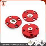 Botón de encargo del metal del broche de presión del individuo de Monocolor