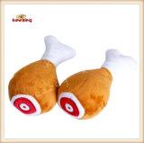 Pollo pilones patrón de peluche y relleno de juguete chillón para el perro