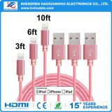 aufladendes 8pin und Übergangs-USB-Kabel für iPhone 6/7 Fertigung-Lieferant