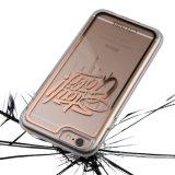 文字は明確な透過ハイブリッドカバーでTPU iPhone 6sのための豊富なカバー皮懸命+静かに印刷した