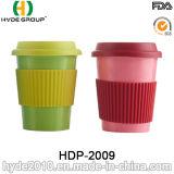 BPA liberano la tazza di caffè di bambù ecologica variopinta della fibra (HDP-2009)