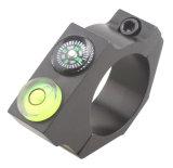 Aluminium promotionnel 25mm niveau biseauté de portée de niveau à bulle de niveau d'esprit de dispositif de portée de boucles de support de Riflescope de 1 pouce anti avec la boussole