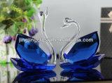 Cisne cristalino caliente popular para regalo de boda