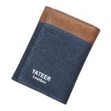 Помытая холстина с холстиной масла навощенной и верхней исправляет тонкий бумажник