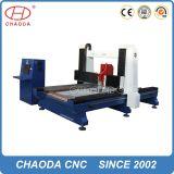 Máquina dobro do router do CNC do Woodworking do uso com giratório
