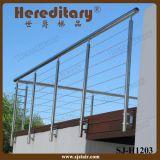 Balaustrada dos trilhos da escada da corda de fio com corda de fio do aço inoxidável (SJ-H1726)