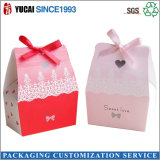 Caixa de bolo de papel personalizada da caixa dos doces da caixa de presente