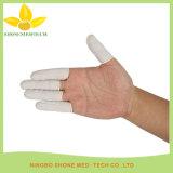 Berços de dedo de látex branco descartáveis