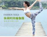 Qualité d'impression de fleur plus les guêtres serrées de yoga de taille