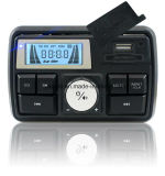 Impermeable Audio Raido USB SD Alarma Motocicleta Accesorio