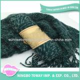 Lãs acrílicas que tricotam manualmente o lenço grande do tamanho de Desigual