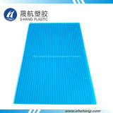 Het blauwe Poly Holle Plastic Blad van het Carbonaat
