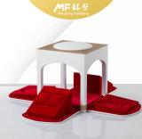 美しい現代長方形の白い木の結婚祝いの箱