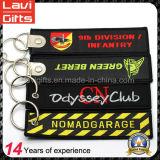Preiswerte kundenspezifische eindeutige Firmenzeichen-Stickerei Keychain