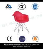 Hzpc148 zit het Nieuwe Plastiek de Stoel van de Voet van de Hardware van de Raad - Rood