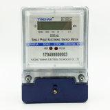 Contador azul de la energía eléctrica del caso la monofásico de Dds-6L