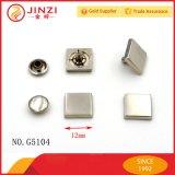 Кнопка ногтя заклепки металла 12mm Jinzi квадратная головная для одежды и мешков
