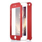 para el caso del iPhone 7 casos protectores de lujo llenos de la contraportada del diseño híbrido de la carrocería de 360 grados para el caso del iPhone 7 con el vidrio de la pantalla