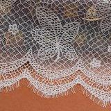 短い浜のウェディングドレスのレース、珊瑚の花のビードのためのアフリカのジョージのレースファブリック