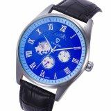 Tevise Mens Relógio Relógios de couro de couro Automático Homens mecânicos Relógios de esqueleto Relógio de pulso impermeável casual Marca Assista