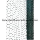 Rede de fio sextavada revestida do PVC do preço do competidor para as gaiolas animais