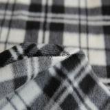 Panno morbido polare spazzolato con la stampa nera & bianca degli assegni