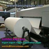 45, 55, 70, 80, 90, 100, 120, het JumboBroodje van het Document van de Overdracht van de Sublimatie van de Druk van de Hoge snelheid 140GSM voor Textiel