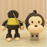 가득 차있는 기억 장치 만화 원숭이 USB 섬광 드라이브