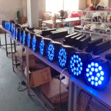 실내 Rgbawuv 동위 18PCS LED 알루미늄 크리스마스 점화