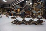 Cremagliera creativa del vino del Bali del metallo e di legno per mobilia domestica