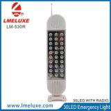 Luz de emergencia multifuncional de base giratoria con función de radio FM