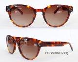 Деревянные почищенные щеткой солнечные очки ацетата высокого качества с объективами Cr39