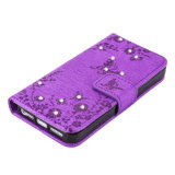 iPhone 7 аргументы за бумажника Rhinestone бабочки вспомогательного оборудования случая сотового телефона выбивая кожаный плюс Se 6 5