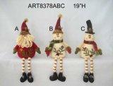 Decoración Gift-2asst de la Navidad de Santa y del muñeco de nieve