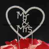 Экстракласс торта венчания сердца экстракласса торта Rhinestone Mr&Mrs