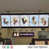 메뉴를 위한 풀 컬러 호리호리한 알루미늄 광고 LED Backlit 가벼운 상자