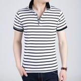 2017の習慣のゴルフ縞のポロシャツ