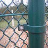 Galvanisierter Kettenlink-Zaun, Diamant-Draht-Filetarbeit