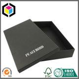 Boîte de conditionnement de vêtement en papier aggloméré noir mat