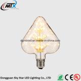 Der LED-Birnen Weinleseedison-Birnen-LED 3W ST64 weißglühende Birnen-Heizfaden-Birnen-Beleuchtungsolarzeichenkettelichter Lichtlampe der Birnen-E27 helle LED
