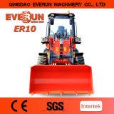 Caricatore delle attrezzature agricole di Everun piccolo mini Zl10 con il Ce dei dispositivi di protezione in caso di capovolgimento