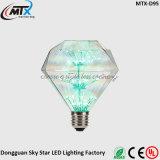 Luz de vela de LED dimmable Lâmpadas de vela de LED Lâmpada moderna de vitrais moderna E27 Lâmpada pintada artificial de LED