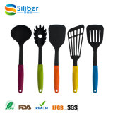 2017 Promotion Hot Sale Set de 5PC Accessoires de cuisine Non Stick Silicone Kitchen Utensils