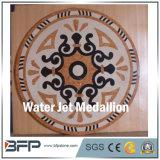 La Cina ha lucidato i reticoli dei medaglioni del pavimento del getto di acqua, reticolo di marmo dei medaglioni del pavimento