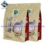 8側面のシールのZiploc習慣によって印刷されるクラフト紙の食糧袋