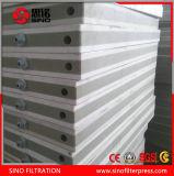 Prensa de filtro hidráulica automática de membrana de los PP de la nueva tecnología para el tratamiento de aguas residuales