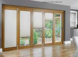 Fenêtre coulissante en aluminium et vitrine en bois massif