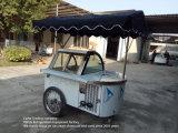 Congeladores italianos do indicador do carro de /Gelato dos carros do gelado para a venda