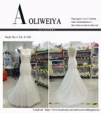Aoliweiya passen Brauthochzeits-Kleider mit blossem Ausschnitt an