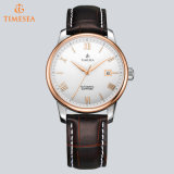 Asunto de cuero clásico Wristwatch72570 del Mens mecánico automático